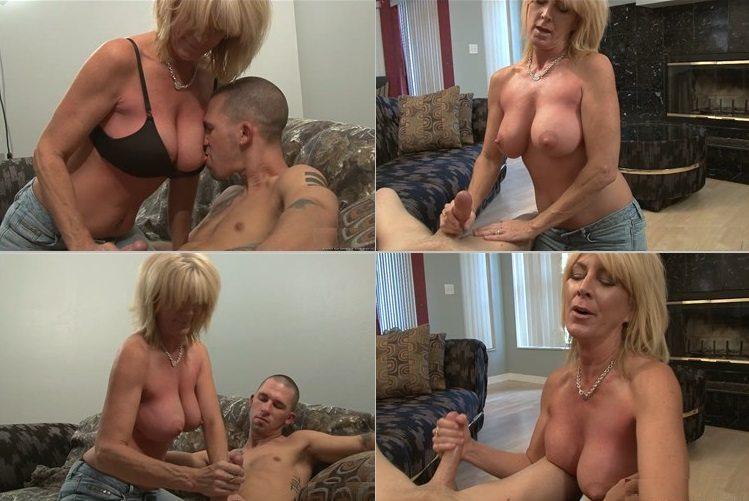 Mom jerks son porn gif