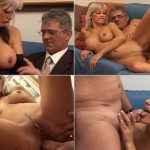 Daddy banged fucks his cute Daughter on sofa SD