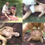 Old Daddy banged young Daughter outdoor
