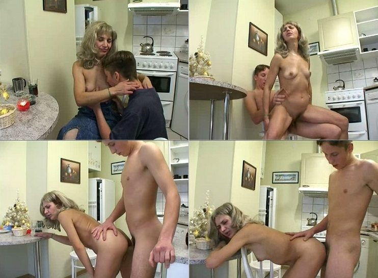 aincest - 1997 Young Son banged his beauty Mother in ktichen