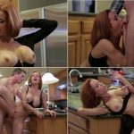 Veronica Avluv – Young son hard fucks beautiful Step-Mother in kitchen SD