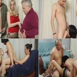 Crazy Russian Incest Family foursome hot Daughter, Father, Mother and Son