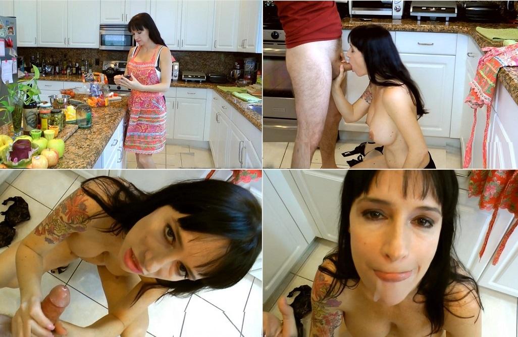 aincest - 3333 Angie Noir BJ Seduction In The Kitchen