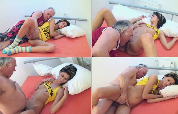 aincest - 3498 Grandpa fucks sweet sleeping Granddaughter