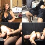 Leann Luscious – Lonely big tit Mom smokes while Son fucks her big ass HD