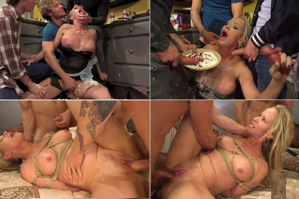 Son and friends gangbang mother