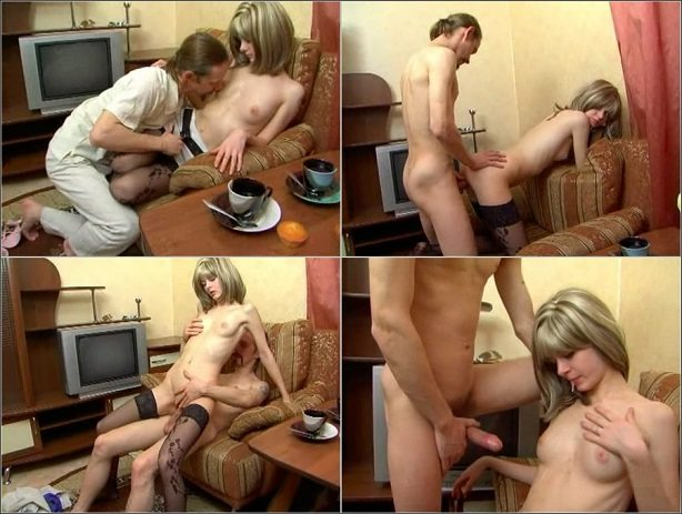 aincest - 3996 Father fucking his beauty young Daughter in high stockings