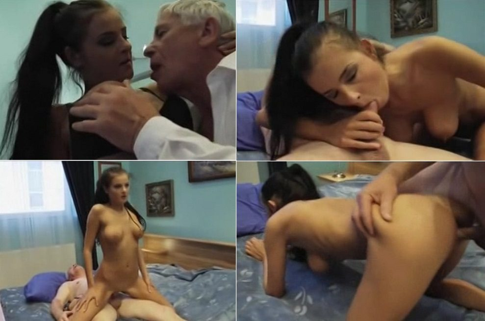 aincest - 4284 Daughter fucks with old Daddy on bed.avi