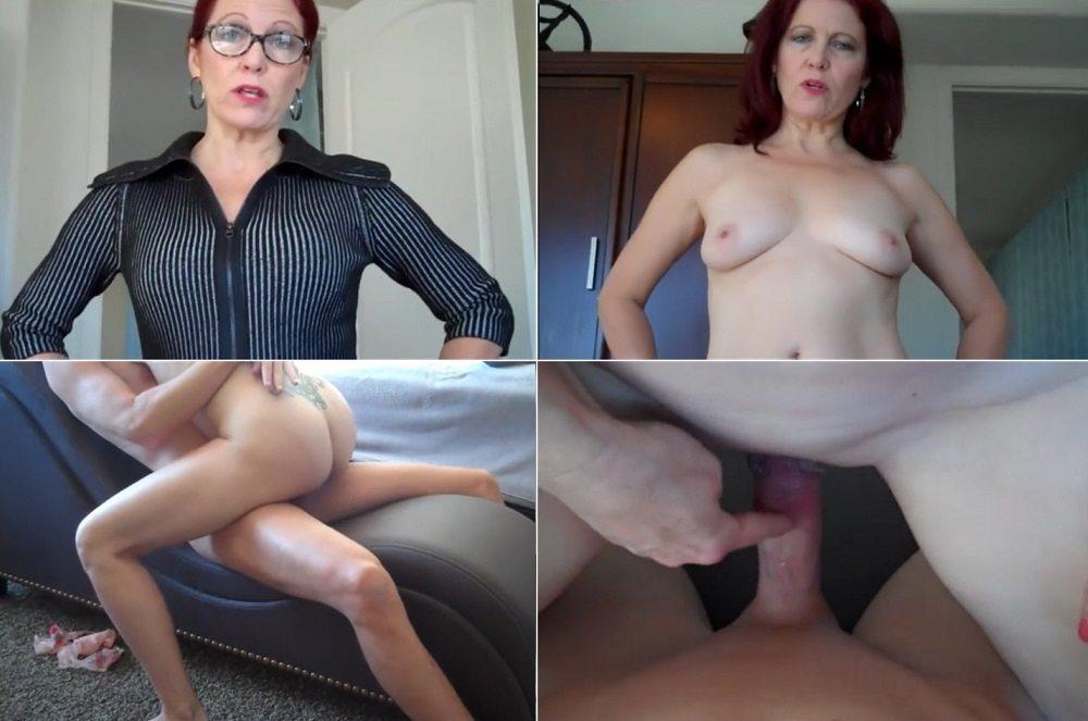 Mom dominates son porn