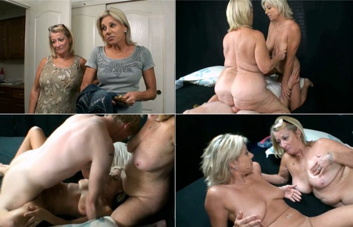 Mom joins her son and daughter for a dirty incest action and jerks off her son's dick