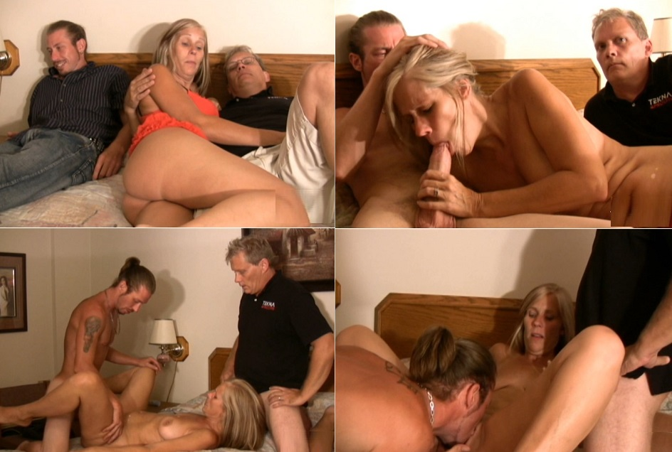 threesome son Dad and