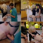 Jericha Jem, Piper Perri – Lucky Fuck – Brother fucks two Sister when parents watch TV SD 2018