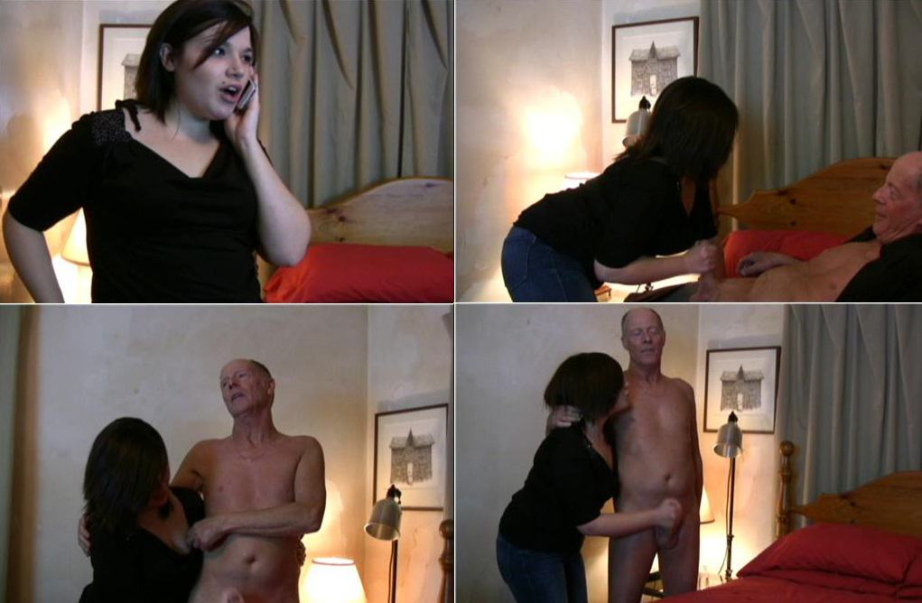 My GrandDaughter help Me with my erection problem – Holly`s GrandPa FullHD mp4