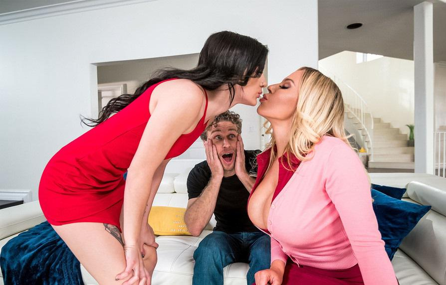 [Incest 2019] Olivia Austin & Rosalyn Sphinx – Learning From Stepmom – Mommy help me fuck my BF HD mp4
