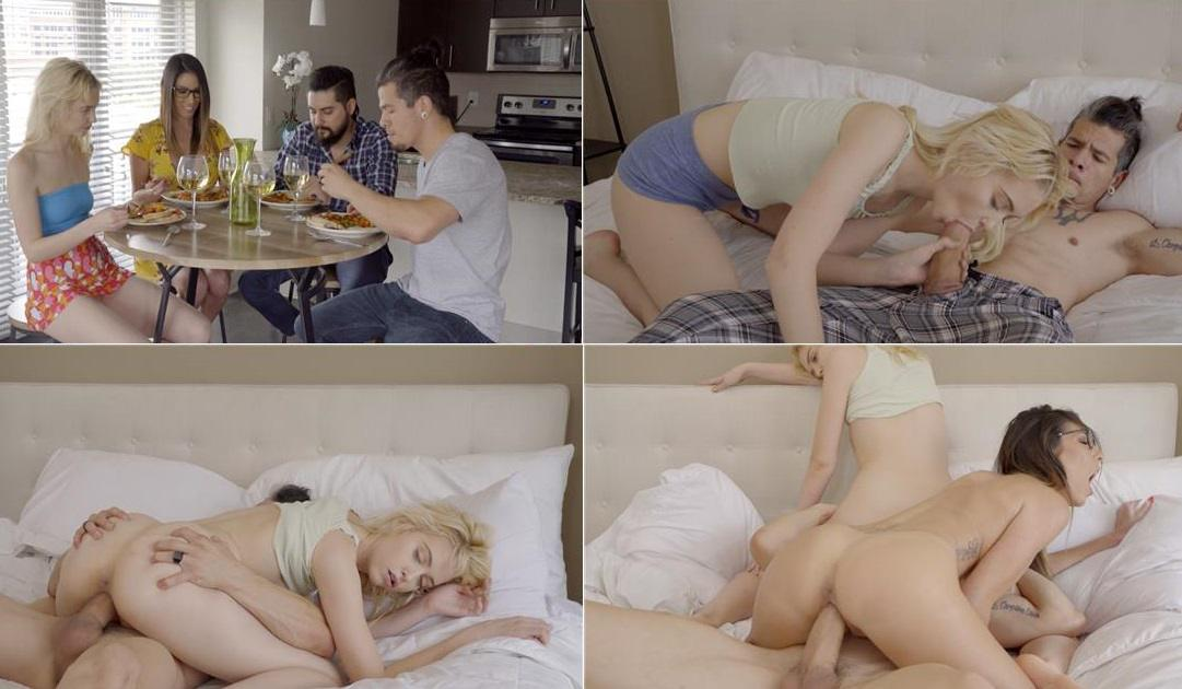 [Incest 2019] Family Threesome Porn – Chloe Cherry & Dava Foxx – Fucking With Brother HD mp4