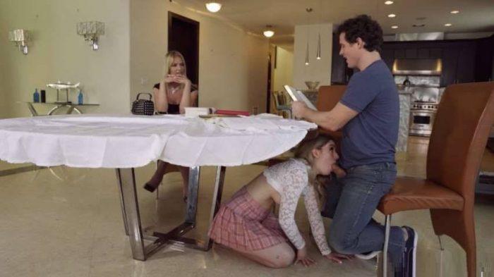 [Incest 2019] Family Threesome Porn – Rachael Cavalli, Abby Adams, Robbie Echo – My Stepmom Ruined The Study Session SD mp4