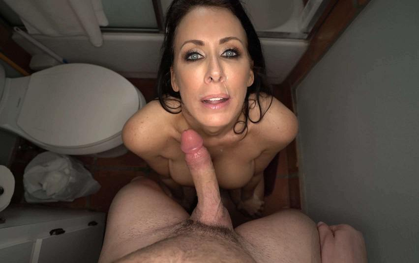 Filthy POV - Reagan Foxx – My Mom Gets Me Hard And Makes Me Fuck Her in the Bathroom