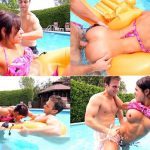 Banging Family – Spying on my Cute Sister in the Pool – Public Incest FullHD mp4