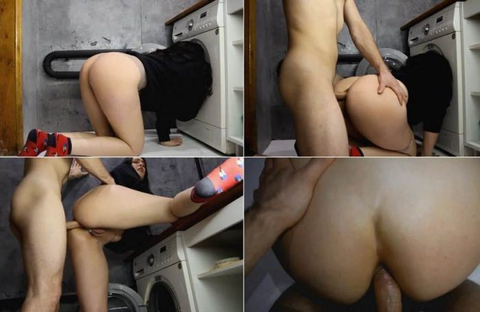 Sister Stuck in Washing and Got full Ass Creampie - Candy Milady FullHD 2020