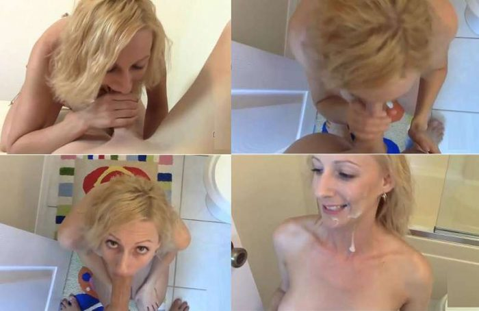 Brittany Lynn – Mom Helps Son with Blowjob Allowing some Deep Throat Takes Facial 720p
