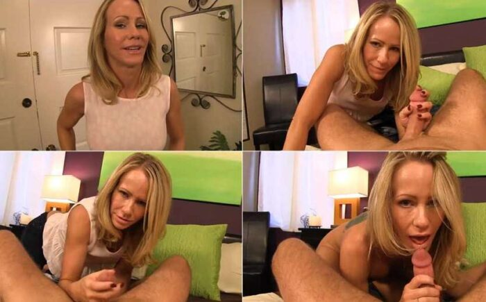 Simone Sonay - My cheating step-mom jerked me off to keep me quiet HD 720p