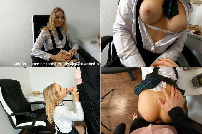 MollyKelt - Schoolgirl Daughter Cum in Extra Classes with the Professor Daddy FullHD 1080p