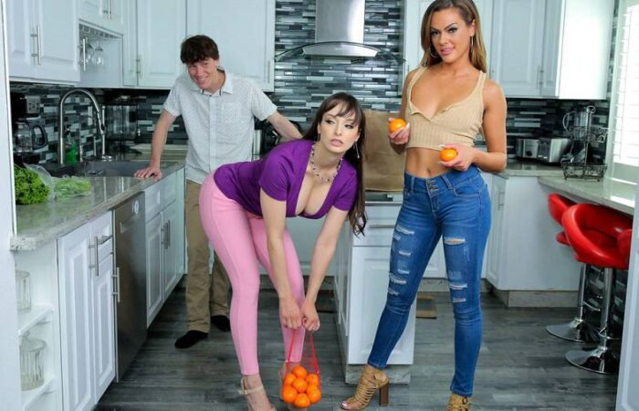 Rion King, Aila Donovan & Lexi Luna - I Will Not Look At My Stepmoms Tits HD 720p