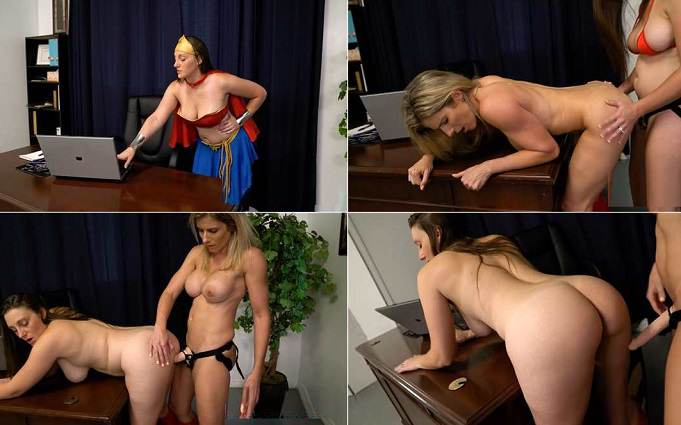 Cory's Super Heroine Adventures Melanie Hicks in Super Heroine vs Lady Computer HD 720p