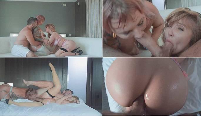 Ivy Lebelle, Lena Paul and Manuel Ferrara - Threesome anal FullHD 1080p